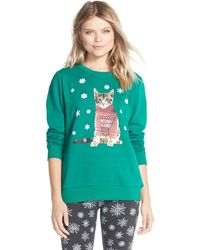 Cozy Zoe - Holiday Print Sweatshirt - Lyst