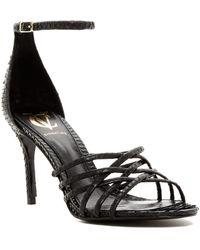 Vince Camuto Signature - Junya Genuine Snakeskin Strappy Stiletto Sandal - Lyst