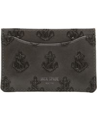 Jack Spade - Anchor Embossed Leather Card Holder - Lyst