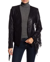 Wyldr - Faux Leather Fringe Jacket - Lyst