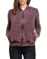 RVCA - Bloom Fleece Bomber - Lyst