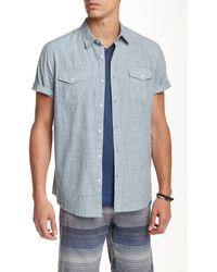 Retrofit - Short Sleeve Flap Pocket Shirt - Lyst