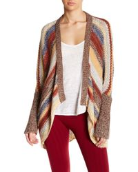Angie - Striped Open Cardigan - Lyst