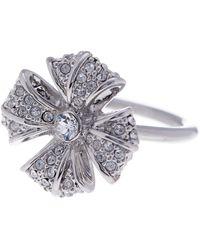 Ted Baker - Reann Rosette Pave Crystal Ring - Lyst