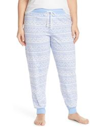 Cozy Zoe - Graphic Cotton Blend Joggers (plus Size) - Lyst