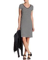 Cable & Gauge - Striped V-neck Lace Up Dress - Lyst