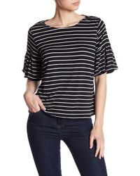 Cable & Gauge - Striped Puff Sleeve Shirt - Lyst