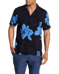 Tocco Toscano - Short Sleeve Tropical Print Woven Shirt - Lyst