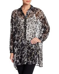 Religion - Animal Printed Long Sleeve Blouse - Lyst
