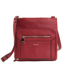 Perlina - Isabelle Leather Crossbody Bag - Lyst