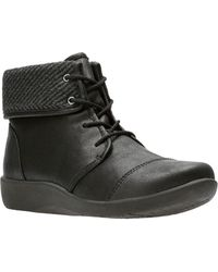 Clarks - Sillian Frey Lace-up Boot - Wide Width Available - Lyst
