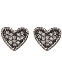 Marc By Marc Jacobs | Crystal Detail Heart Stud Earrings | Lyst