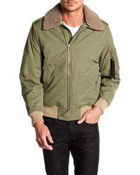 2dfcdd9df50 Lyst - Rag   Bone Shearling Collar Denim Jacket in Blue for Men