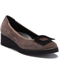 Cordani - Aggie Suede Leather Buckle Flat - Lyst