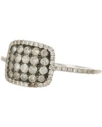 Meira T - 14k White Gold Ice Diamond Square Ring - Lyst