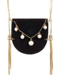 House of Harlow 1960 - Ullie Fringe Velvet Pouch Necklace - Lyst