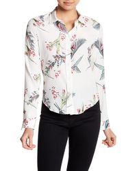 Cacharel | Printed Silk Blend Blouse | Lyst