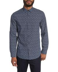 Calibrate - Abstract Long Sleeve Trim Fit Shirt - Lyst