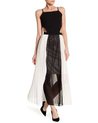 Haute Rogue - Cutout Pleated Maxi Dress - Lyst