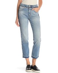French Connection - Side Stripe Crop Jeans - Lyst
