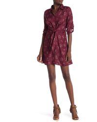 Angie - Tie Waist Shirt Dress - Lyst