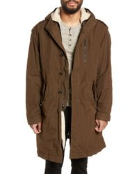 John Varvatos - Removable Faux Shearling Anorak - Lyst