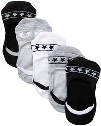 Steve Madden - Star Print Arch Support Footies - Pack Of 5 - Lyst