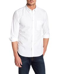 7 For All Mankind - Long Sleeve Oxford Regular Fit Shirt - Lyst