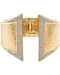 House of Harlow 1960 - Accented Hinge Cuff Bracelet - Lyst