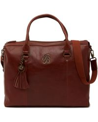 "Tommy Bahama - 17"" Ibiza Leather Overnighter Bag - Lyst"