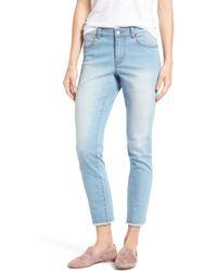 Caslon | Caslon Frayed Hem Skinny Ankle Jeans | Lyst