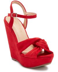 In Touch Footwear - Gita Wedge Platform Sandal - Lyst