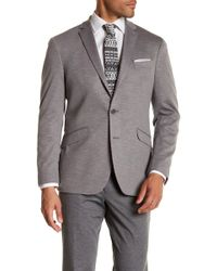 Kenneth Cole Reaction | Grey Marled Knit Two Button Notch Lapel Trim Fit Sport Coat | Lyst