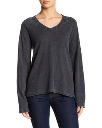 Go Couture - Slouchy Wide Sleeve Thermal Sweater - Lyst