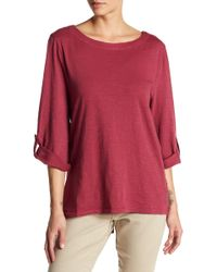 Jag Jeans - Wren Lace Back Tee - Lyst