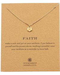 Dogeared - Faith Angel Wing Pendant Necklace - Lyst
