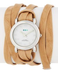 La Mer Collections - Women's Silver Saturn Wrap Watch - Lyst