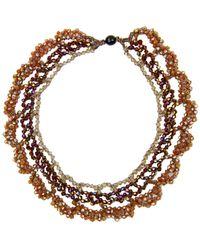 Saachi - Nati Beaded Crochet Necklace - Lyst