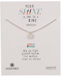 Dogeared - Sterling Silver Your Shine Horseshoe Token Bracelet - Lyst