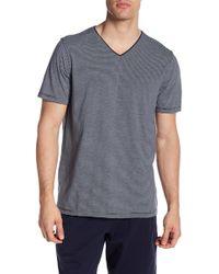 Daniel Buchler - Striped Short Sleeve V-neck Tee - Lyst