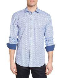 Bugatchi - Woven Sport Shirt - Lyst