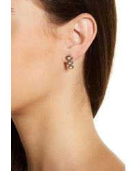 House of Harlow 1960 - Tanta Crosshatch 3 Stone Earrings - Lyst