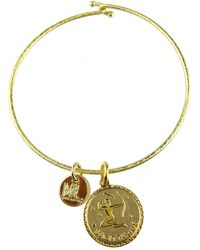 Moon & Lola - Zodiac Charm Bangle - Lyst