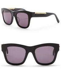 Stella McCartney - 49mm Laced Chain Square Sunglasses - Lyst