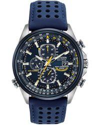 Citizen - Angels World Chronograph A-t Watch - Lyst