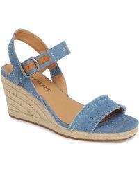 Lucky Brand - Marceline Squared Toe Wedge Sandal (women) - Lyst