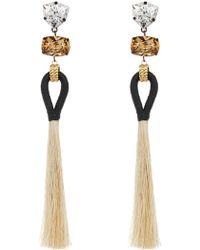 Tory Burch - Hanging Long Tassel Earrings - Lyst