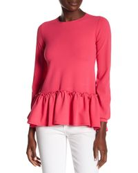 Go Couture - Long Sleeve Flare Top - Lyst