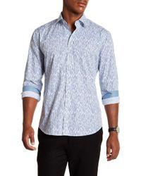 Bugatchi - Striped Long Sleeve Shaped Fit Shirt - Lyst