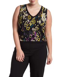 Rachel Roy - Fitted Jacquard Crop Top (plus Size) - Lyst